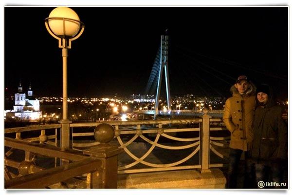 Мост над набережной тюмень
