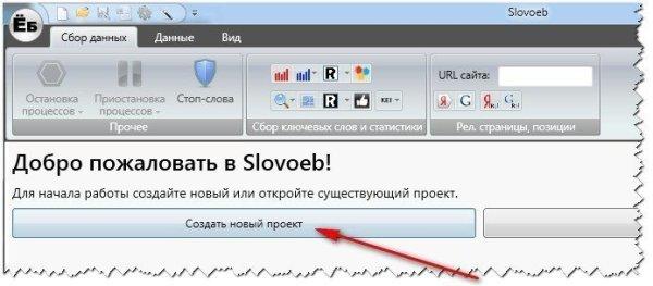Создаем новый проект в SlovoEB