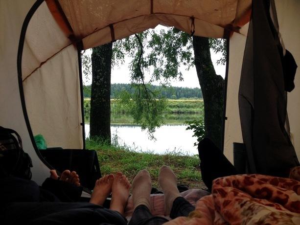 Вид на сылву из палатки