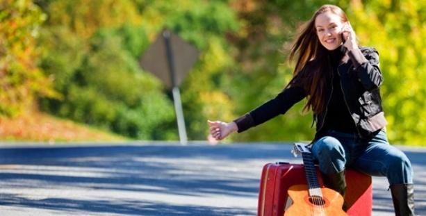 путешествует одна