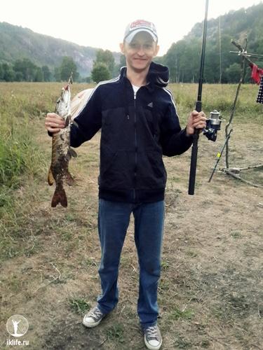 рыбалка на реке белой