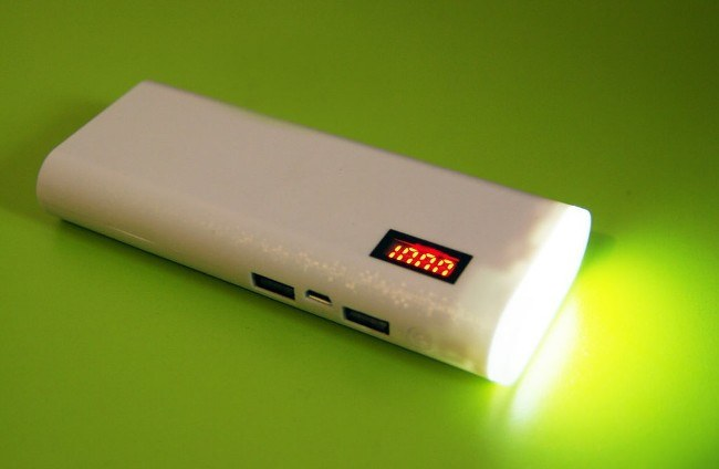Фонарик в power bank