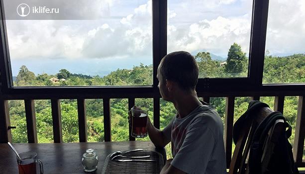 горячий чай в горах