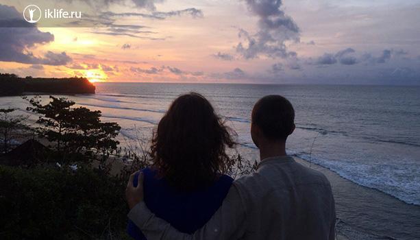 закат на пляже баланган