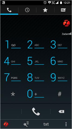 Звонок через мобильное приложение Задарма