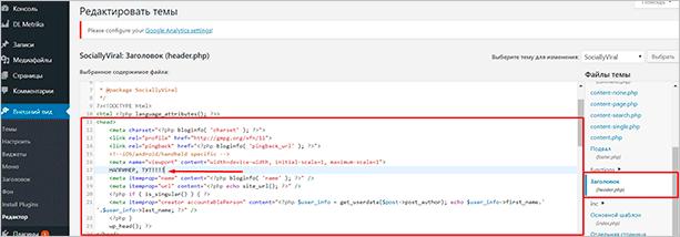 Как добавить мета-тег в код шаблона