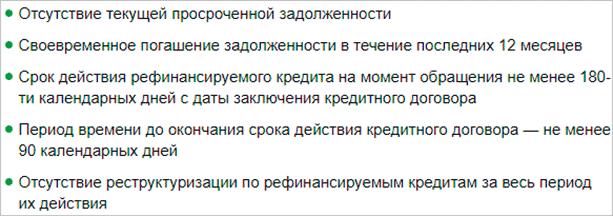 Изображение - Условия получения ипотеки от сбербанка trebovaniya-k-refinansiruemym-kreditam