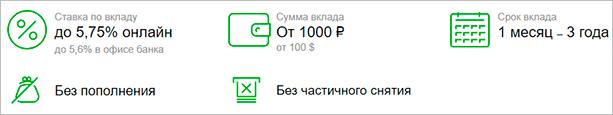 """Условия по вкладу """"Сохраняй"""""""
