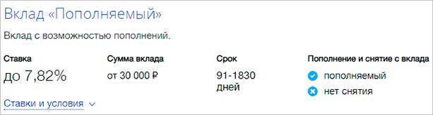 """Вклад """"Пополняемый"""""""