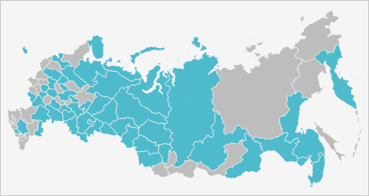 Карта присутствия