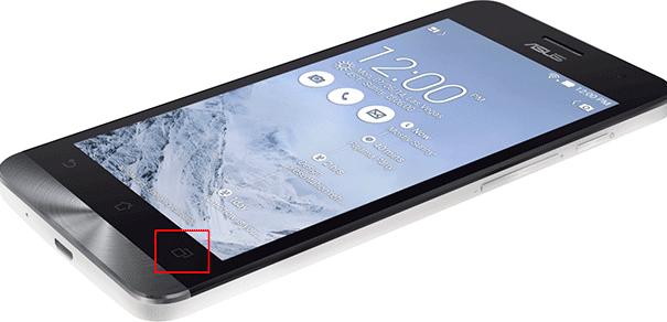 Скрин в телефоне Asus