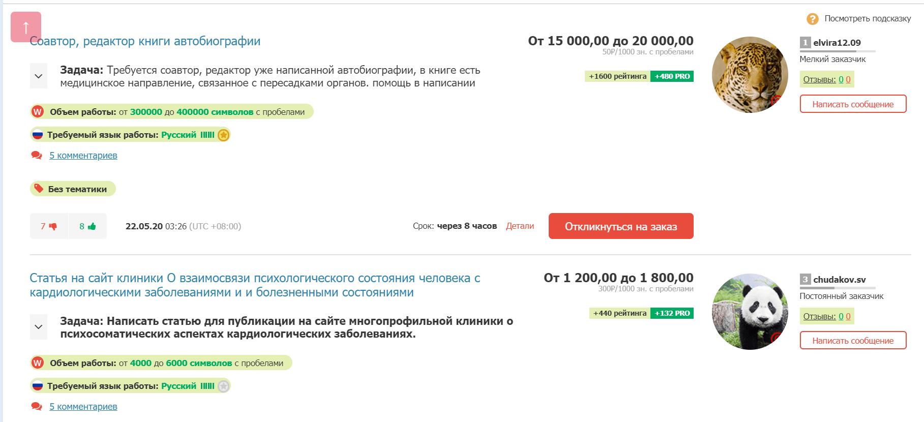 Заказы на Text.ru