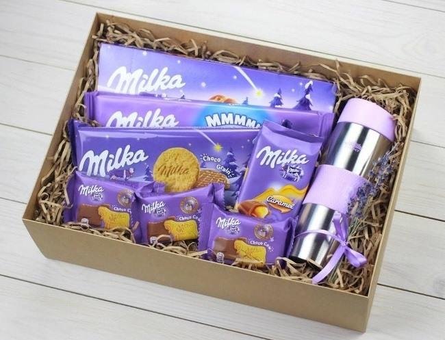 Подарочный набор с шоколадками