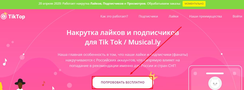 Знакомство с TikTop