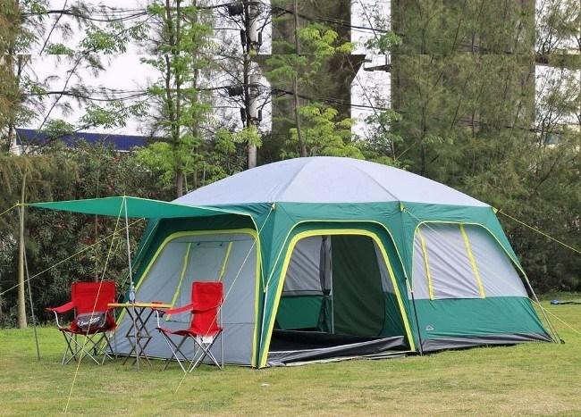 Кемпинговая палатка с окнами