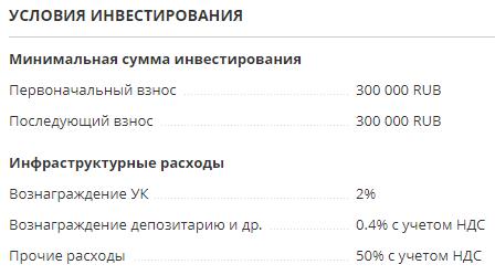 "Условия ЗПИФа ""Арендный бизнес"""