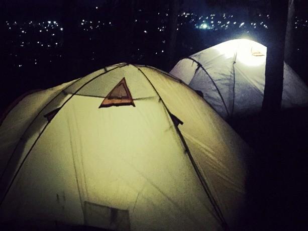 ночные палатки с видом на кунгур