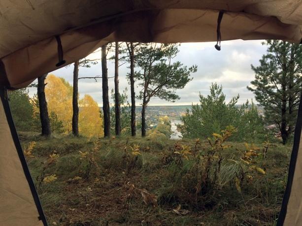 Вид из палатки на Кунгур